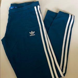 Blue adidas leggings